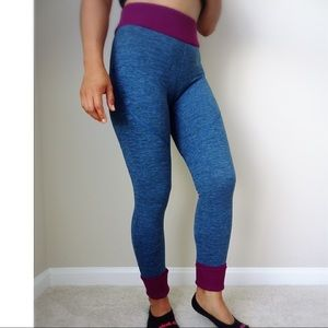 Leggings size small, blue and purple